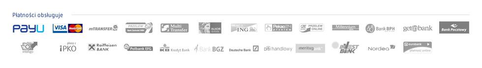 Akceptujemy płatności kartami kredytowymi, przelewem bankowym oraz przelewami z kont internetowych oraz poprzez SMS (dla wybranych publikacji)