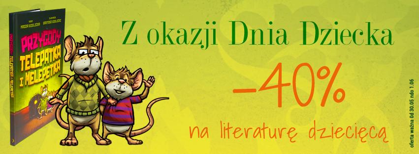 Promocja -40% na literaturę dziecięcą