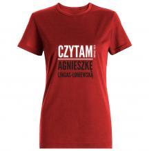 T-shirt w rozm. M - Czytam Agnieszkę Lingas-Łoniewską